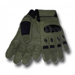 Protective gloves Airsoft Reinforcements Knuckles KEVLAR Green