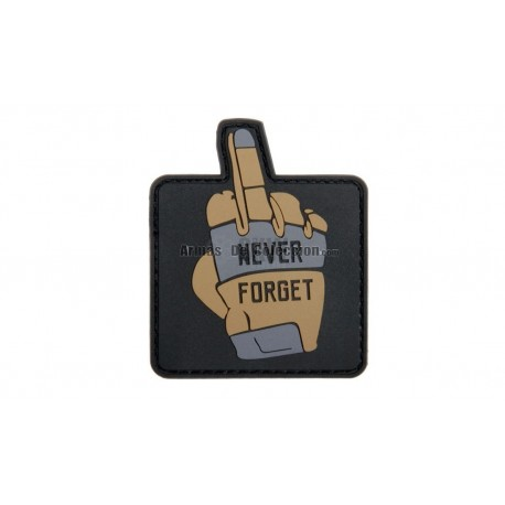 PARCHE NEVER FORGET 57X68 MM