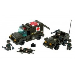 BRICK CONSTRUCCÓN AMBULANCIA Y ESCOLTA 229 PCS COMPATIBLE LEGO