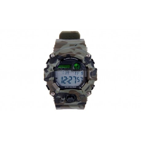 RELOJ TACTICO DIGITAL CAMUFLAJE