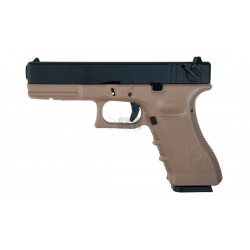 KJ Works Tipo Glock -18 TAN GAS