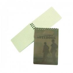 Waterproof Miltec 8X12 CM Green Notebook