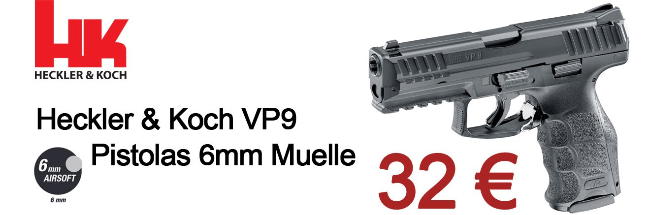 Heckler & Koch VP9 Pistolas 6mm Muelle