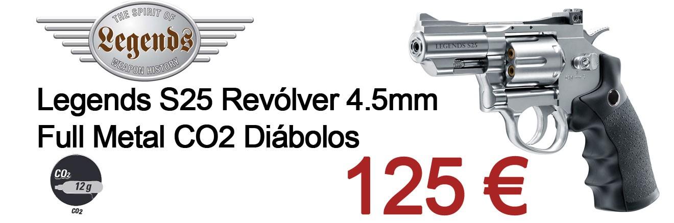 Legends S25 Revólver 4.5mm Full Metal CO2 Diábolos