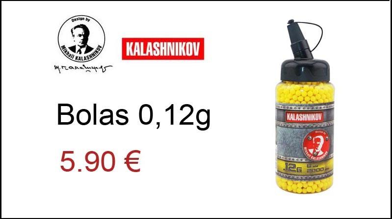 Comprar Bolas Arsoft 0,12g Kalashnikov
