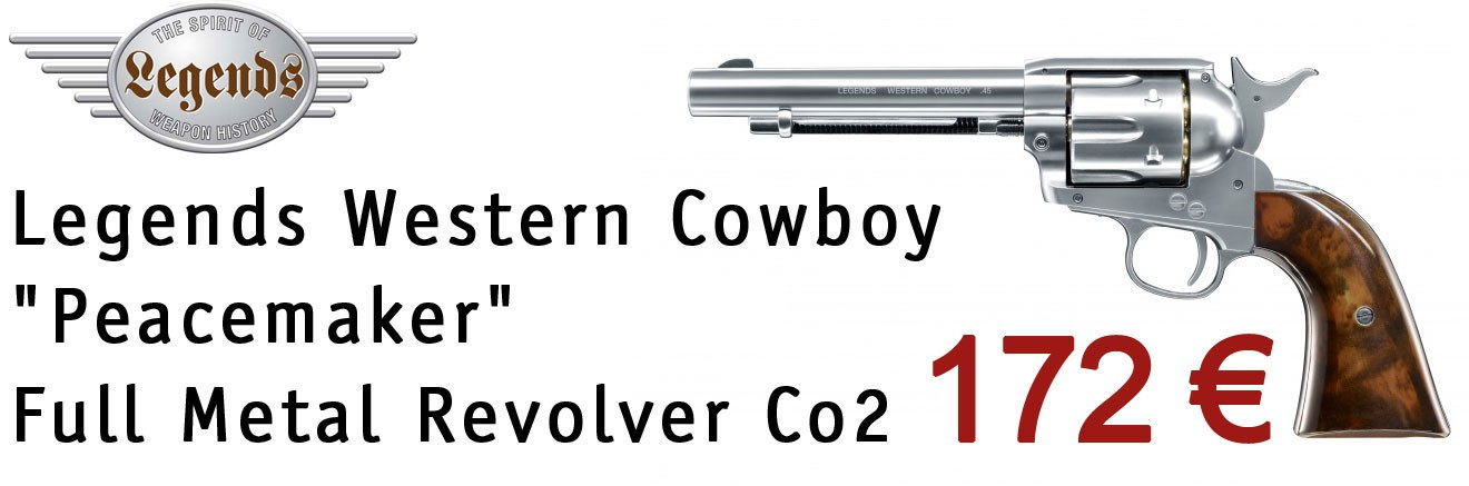 "Legends Western Cowboy ""Peacemaker"" Cal.45 Full Metal Revolver Co2 by Umarex"