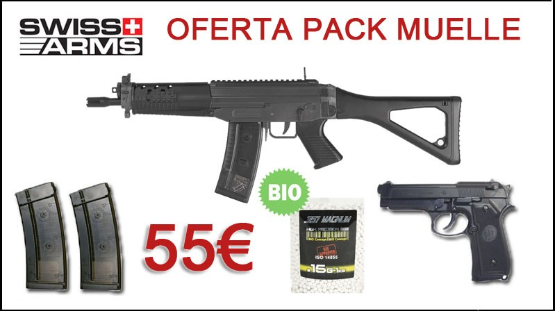 Oferta Pack Muelle Swiss Arms