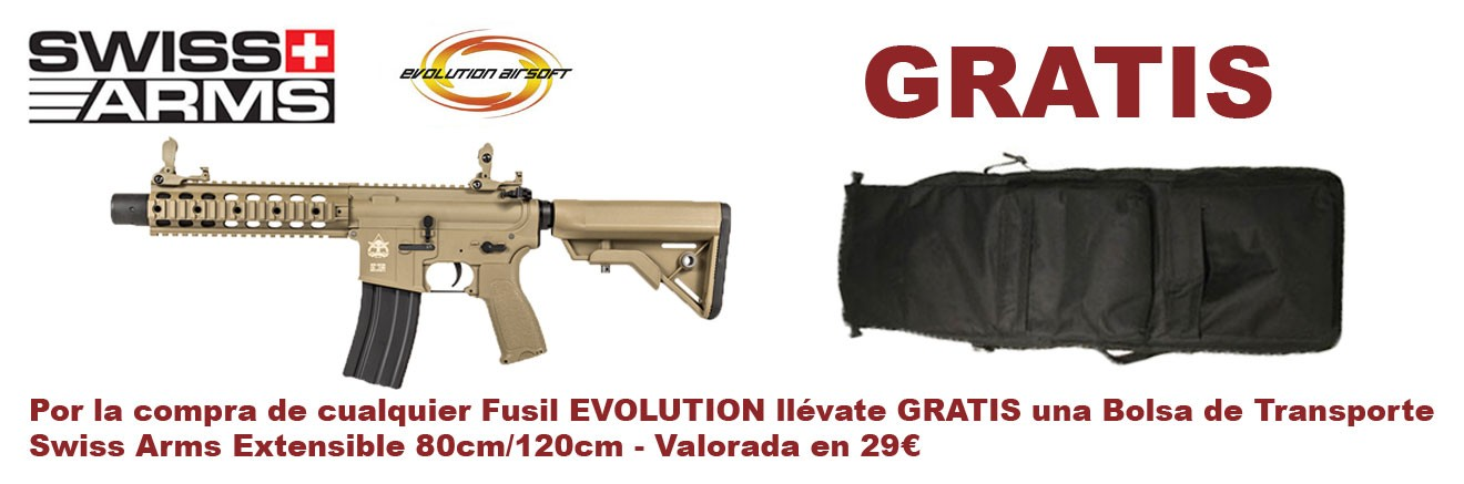 Bolsa de Transporte Swiss Arms Gratis, por la compra de cualquier EVOLUTION