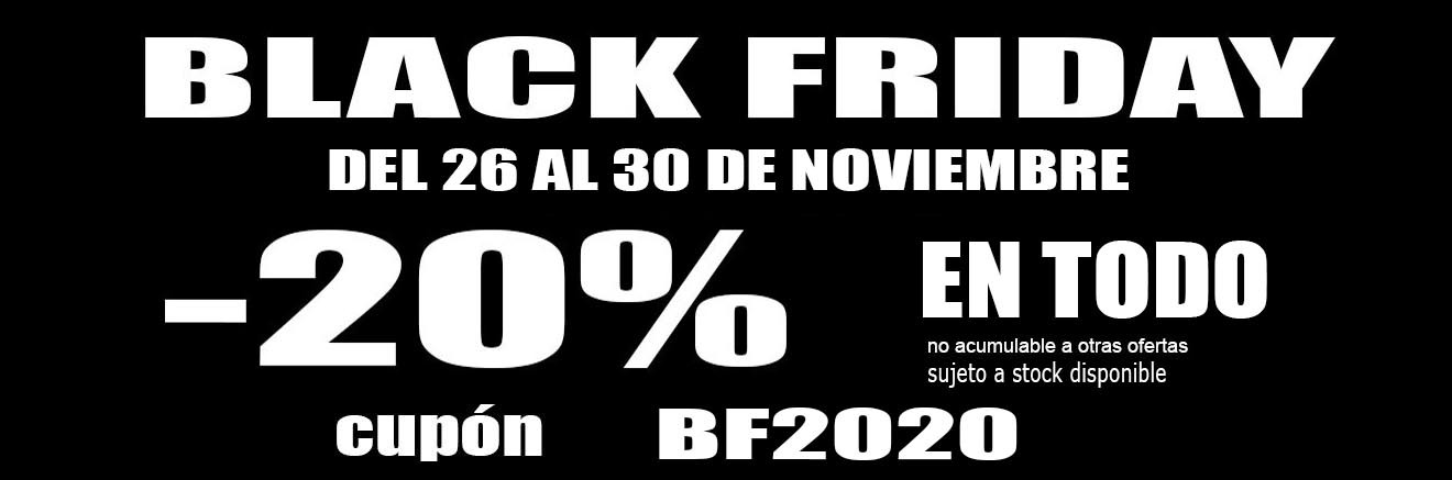 Black Friday 2020. TODO -20%